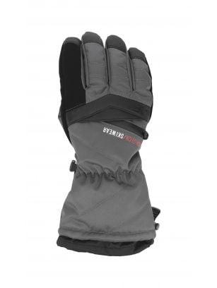 Men's ski gloves REM150 - dark grey